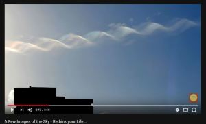 Double Helix Strand of DNA In The Sky, June 2018