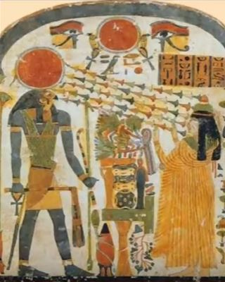 Pre-dynastic mural of Horus and Nut