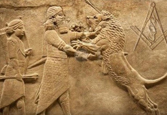 Early Sumerian with Masonic symbol