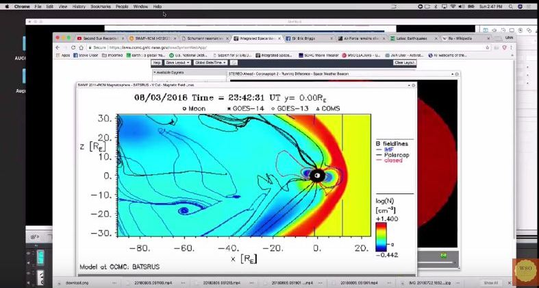 EYE OF HORUS DETECTED IN THE EARTH'S MAGNETOSPHERE BY G.O.E.S.VIA WSO