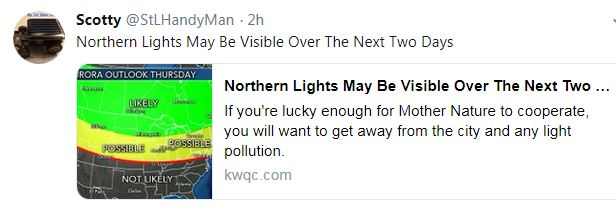 NORTHERN LIGHTS 16MAY2019 Tweet