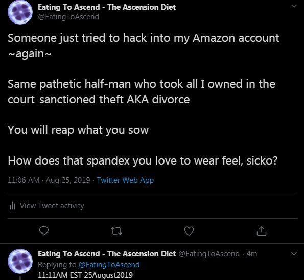 Amazon Hack Tweet 25Aug2019