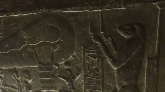 AmphibiousHybridGiantAtDendaraInLuxorEgyptBelowPyramids