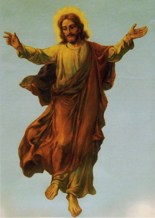 Ascension Closeup OF JESUS