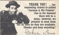Lorenzo the Clown note and sig