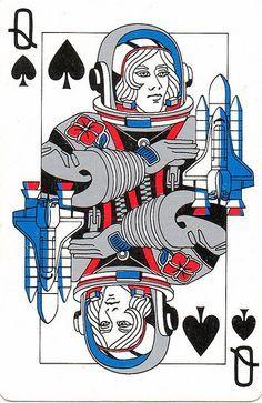 AceofSpadesQueenUFOplayingcard