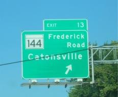 Beltway Exit 13 Catonsville