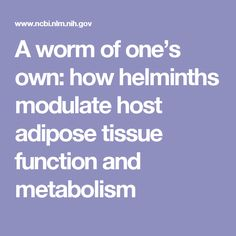 HelminthsModulateAdiposeTissue