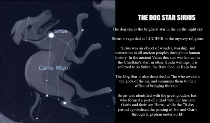 THE DOG STAR SIRIUS ANUBIS LUCIFER
