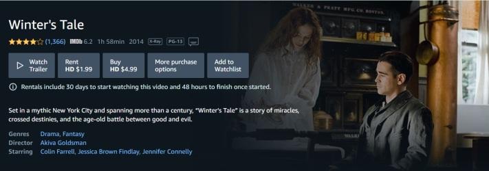 Winters Tale Amazon Prime