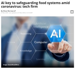 AI MANAGES FOOD SYSTEM CORONAVIRUS