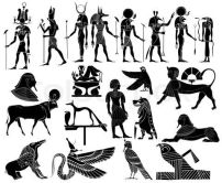 Egyptian demons black and white images