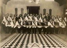 Freemason Tesselated Floor with Pentagram Vintage Photo