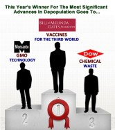 GATES MONSANTO DOW depopulation award MEME