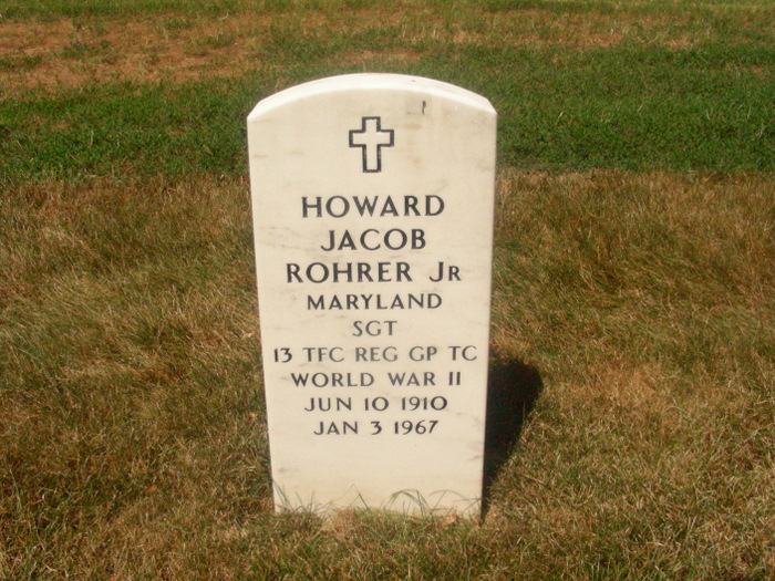 Grandaddy Howard Jacob Rohrer Arlington Grave 49304459_127785457227
