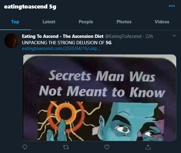 Twitter Suppressed 5GCovid Tweet 16April2020