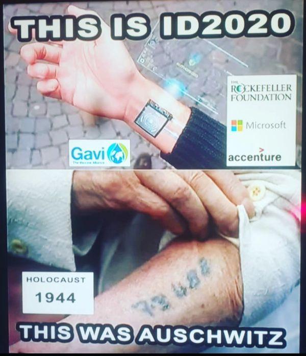ID2020 RFID and AUSCHWITZ MEME