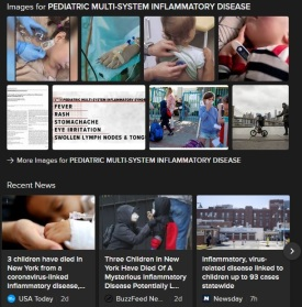 PEDIATRIC MULTI-SYSTEM INFLAMMATORY SYNDROME SEARCH COLLAGE 12MAY2020
